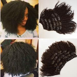 """3c / 4a / 4b Perulu Klipler Saç Uzantıları 8 """"-22"""" instock,% 100 Virgin İnsan Saç Clip-ins Saç Atkı, Doğal Klipler WeavE G-EASY"""