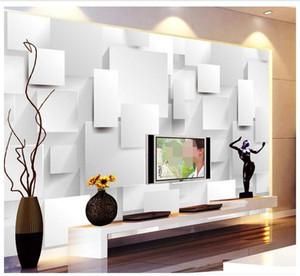 Özelleştirme duvar kağıdı papel de Parede Moda 3D stereoskopik 3D stereo kutu arka zemin 3d duvar Ücretsiz shipping5130