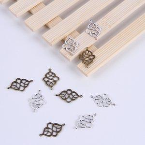 Vente chaude argent / cuivre rétro noeud chinois Breasted Pendentif Fabrication DIY bijoux pendentif fit Collier ou Bracelets charme 600pcs / lot 212w