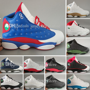 Mens Basketball Schuhe 13 DMP BlackCat Playoffs Pure Money Geschichte des Fluges HOF Gezüchtet Schwarz True Red Sport Laufschuhe Grau Toe Sneakers
