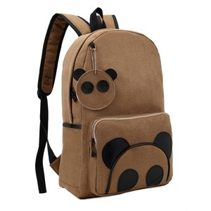 Yüksek Kaliteli Süet Panda Sırt Çantası Okul Çantası Koleji Rustik Gelgit Packsack Kore Orta Okul Sırt Çantaları Kadın Bağbozumu Rahat Çanta