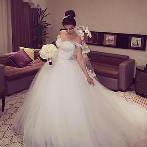 Лучшие продажи! 2019 высокое качество с плеча цветы весна лето свадебное платье с шнуровкой назад платья невесты бальное платье