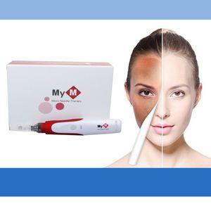 Горячая продажа-MYM Electric Microneedle Roller Electric Derma Stamp Dermapen Micro Needle Therapy Micro Needle MYM дермы ручка