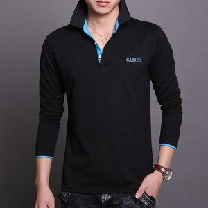 Polo American Brand Long Mens Polos рубашка тонкие мужские рубашки поло футболки хлопчатобумажные рукава подходит футболка оптом Бизнес Polos Odadq