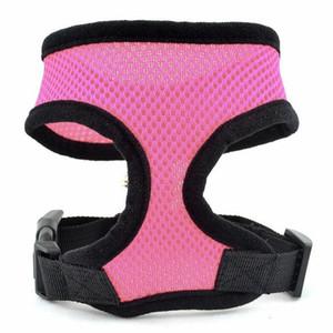Confortável Macio Respirável Cão Arnês Pet Vest Corda Peito Cinta Peito Leash Set Collar Leva Harness Ajustável L009