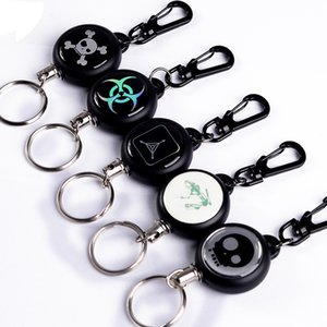 TAD Steel Rope Burglar Keychain TAD equipment Retráctil de alambre de acero inoxidable Llavero