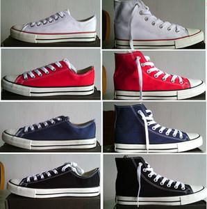 Drop Shipping Brand New 15 Colors Tutte le dimensioni 35-46 Alta Top Sports Stars Low Top Classic Canvas Sneakers Scarpe da donna Scarpe casual da donna