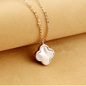 acier inoxydable tianium Bijoux de mode Collier Pendentif pour femmes Collier coquille Long Collier perle Colliers Pendentifs pour les femmes