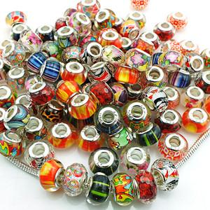 Mix Verkauf Mode Handgefertigte Lampwork Großes Loch Perlen DIY Europäischen Marke Armbänder Lose Perlen Schmuck Zubehör
