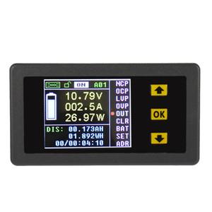 Freeshiping Dijital Kablosuz Ampermetre Voltmetre Çift yönlü Gerilim Akım Test Cihazı Güç Ölçer Coulomb Sayacı DC 0.01-100Vdiagnostic-aracı