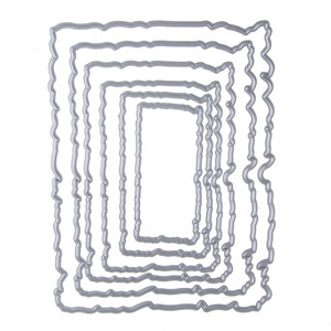 127 * 98mm cadre ensemble pochoir Metal Cutting Knives Cutting Dies Pratique DIY Scrapbooking Album Craft meurt q171128