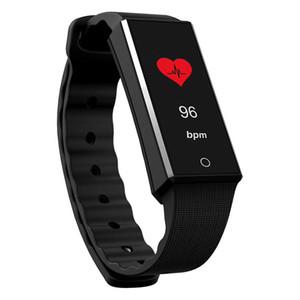 Hot Z4 Rastreador De Fitness Pulseira Monitor de Freqüência Cardíaca Banda Inteligente Colorido OLED Tela Pedômetro Saúde Esportes Pulseira Inteligente para Android iOS