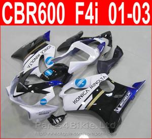 Новый белый синий bodykits дизайн для Honda CBR600 F4i обтекатель комплект 2001 2002 2003 CBR F4i cbr600f4i обтекатели ДОУ
