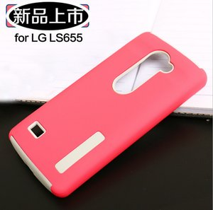 100pcs lot New hybrid Neo Hybrid Silicone+TPU Back Covers Cases For LG LS665 LS 775 Tribute 2 Armor Case