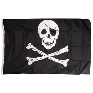 FLAG Hot Pirate FS Skull and Crossbones Jolly Rodger Large 5x3 'Formato ordine $ 18no traccia