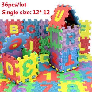 L'environnement bébé puzzle de tapis 36pcs / lot Tapete de Puzzle Alfombra Eva, bébé tapis de jeu puzzle plancher de mousse 12 * 12cm