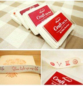 2015 Nova Beleza DIY Álbum Scrapbook Álbum Gradiente Stamp Set Almofada De Tinta Inkpad Craft Tin DIY Almofada De Tinta Frete Grátis