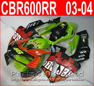 Estilo de bodykits verde REPSOL para Honda CBR600RR 2003 2006 CBR 600 RR carenagem CBR 600RR 03 04 kit de carenagem CISF