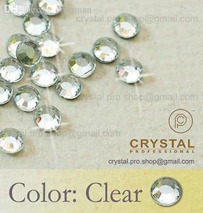 Venta al por mayor-144 piezas. ss20 Crystal Clear 5mm venta al por mayor a granel 20ss vidrio hot fix iron on design diy Piedra de cuentas sueltas FLATBACK hotfix rhinestone