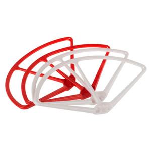 Pare-chocs de lame de protection d'hélice d'hélice de projection DJI Phantom 1/2/3 Vision de 9 pouces, 4 pièces, rouge et blanc pour commande de quadricoptère RC $ 18Aucune piste