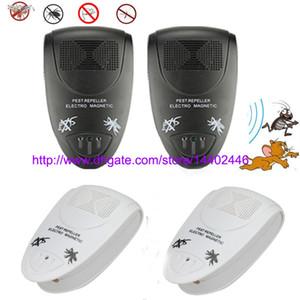60pcs / lot 초음파 전자 방지 쥐 해충 마우스 쥐 버그 벼룩 모기 곤충 Repeller 구충제 검은 흰색 미국 EU 영국 플러그