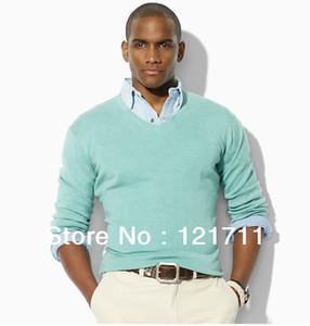 Großhandel-Mens Pullover-Herren-V-Ausschnitt-Pullover-Langärmeln-Pullover-Pullover-Pullover