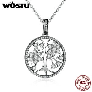 Hot Sale 100 %Real 925 Sterling Silver Family Tree Pendant Necklaces For Women Fine Jewelry Gift Crn013