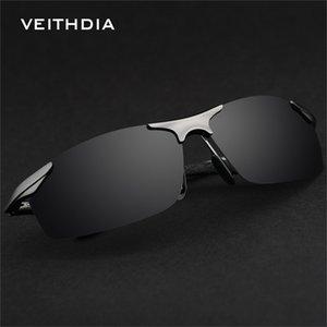 Wholesale-VEITHDIA 6529 Magnesium Aluminium Polarisierte Sonnenbrille Männer Sport Sonnenbrille Driving Spiegel Goggle Eyewear Male Zubehör