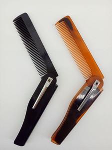 Tragbare Falten Bart Bart Messer Kamm Haarbürsten Kunststoff Haarbürste Kämme für Männer Haarpflege Werkzeuge