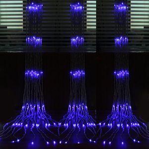 6 M * 3 M 640 LED Şelale Dize Perde Işık LED'leri Su Akışı Noel Düğün Parti Tatil Dekorasyon Peri Dize Işıkları Su Geçirmez