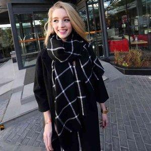 2017 Nuova sciarpa invernale per le donne Sciarpa scozzese Coprispalle scozzese da donna Sciarpe di base Autunno Inverno Ordito