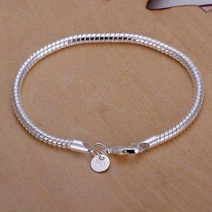 migliore in argento 925 regalo braccialetto 4M ossea serpente caldo di vendita DFMCH159, nuovo di moda in argento sterling 925 braccialetti di collegamento Chain placcato