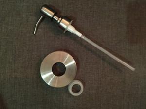 Livraison gratuite 5sets / lot Distributeur de savon Mason Jar avec pompe en acier inoxydable (pot non inclus)