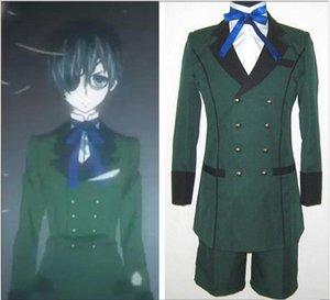 Anime Black Butler 쿠로시 츠지 Ciel Phantomhive 코스프레 의상 emboitement 그린 파티웨어 세트 할로윈 의류 세트
