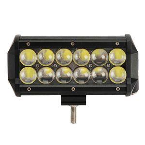 7inch 60W 오스람 Offroad LED 라이트 바 스폿 홍수 IP67 12V 24V 자동차 4X4 4 륜구동 트럭 SUV 보트 12X5W LED가 도로 조명 끄기 운전