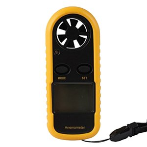 Wholesale-New GM816 30m s (65MPH) LCD Digital Handheld Air Wind Speed Velocity Meter Measure Pocket Smart Anemometer Anemometro anemograph
