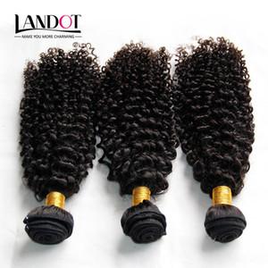 Indien Bouclés Cheveux Non Transformés Indien Kinky Bouclés Bouclés de Cheveux Humains 3Pcs Lot 8A Grade Indiens Jerry Curls Extensions De Cheveux Naturel Noir