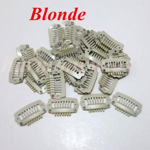 Saç uzatma çırpıda klipler 2.3cm 7 diş paslanmaz çelik klibi saç uzatma peruk atkı 6 renk