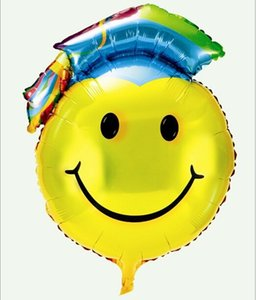 Wholesale-Balloon party decor at 1 m large graduation smiling face the balloon party supplies