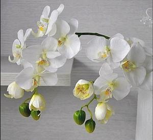 Ventas al por mayor Orquídea mariposa de la flor de mariposa de la flor de la orquídea artificial para el hogar decoración de la boda boda centro de mesa telón de fondo