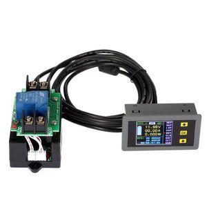 Freeshipping Yeni Kablosuz Gerilim Akım Test Cihazı Güç Ölçer Dijital Ampermetre Voltmetre Coulomb Sayaç Çift Yönlü DC 0.01-120 V 0.01-30A