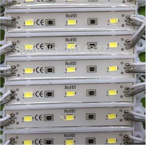 Spedizione gratuita 3LED modulo singolo colore luce SMD 5730 IP 65 impermeabile moduli LED segno lettere retroilluminazione 3led 1 W 72lm DC 12V