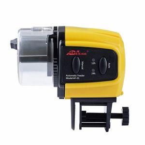 Atacado Display LCD de Cor Amarela Digital Automático Automático Fish Feeder Dispenser Temporizador Tanque de Aquário Peixe Food Feeding Auto Feeder