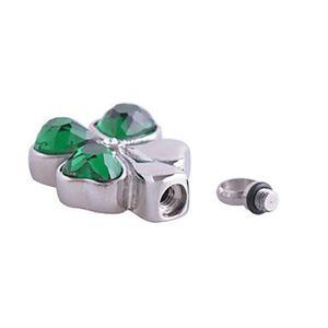 Aço jóias lírio urn urna de presente de presente folha trevo pingente cremação verde para cinzas com quatro colar wsmvs