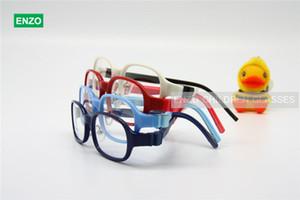 I bambini vetri ottici Frame Size 48 millimetri silicone TR90, tempie staccabile, per bambini ragazzi Occhiali pieghevole Occhiali
