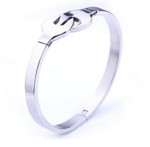 2016 Hot Brand New Frauen Armreif Hohe Qualität 316L Edelstahl Silber Hand Runde Manschette Armband Bling Schmuck für Frau Geschenk