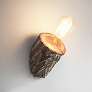 Hölzernes Massivholzstumpf, der ZB0001 der hölzernen hölzernen Wandlampe hölzernes Nachttischschlafzimmer kreatives Gangholz hölzern beleuchtet
