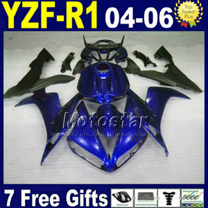 Kit carénage 7gifts pour YAMAHA R1 2004 2005 2006 bleu noir YZFR1 04 05 06 carénages 32AX kit carrosserie moto injection