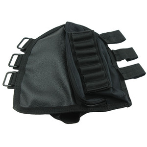 Escopeta de color negro Buttstock Shell Holder Resto de mejilla