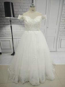 Dubai A-Line Cap Sleeve Dentelle V Cou Robes De Mariée Femmes Château Balayage Train Robe De Mariée Zipper Elegante Robes De Mariée Mariage Gratuit Voile
